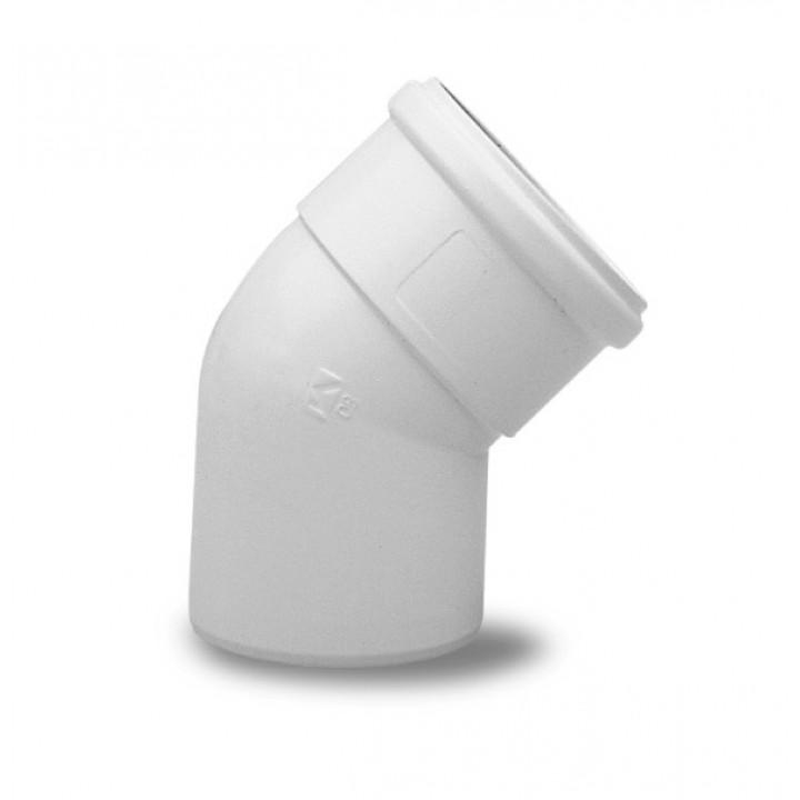 Отвод 45° алюминиевый эмалированный, диам. 80 мм (BAXI) KHG71401811-