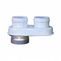 Адаптер (переходник), Krats D60/100 - 80/80 мм. (для Buderus, Bosch, Viessmann, Protherm Ягуар)