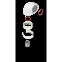 Отвод коаксиальный котловой Krats D 60/100 90˚