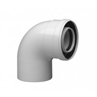 Отвод коаксиальный Protherm, D60/100 мм., 90° алюминий