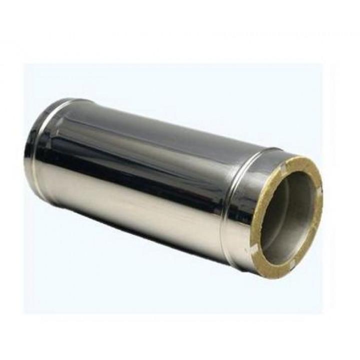 Сэндвич-труба 0,5м D=100/160 Н/О толщина стали 0,5 / 0,5 мм