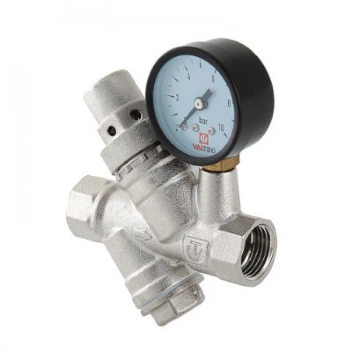 Редуктор давления VALTEC 1/2 с фильтром и манометром