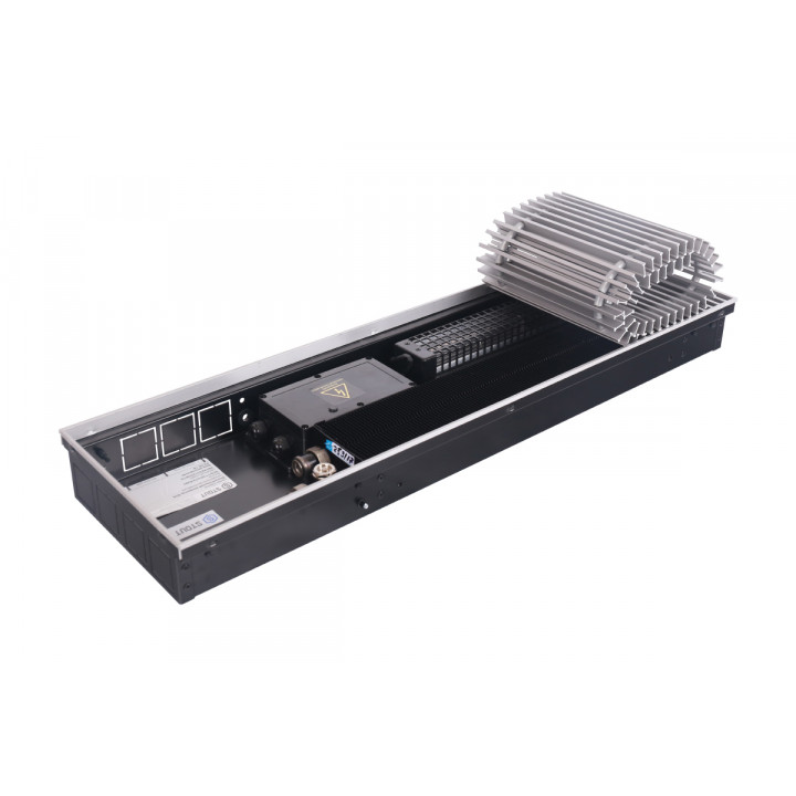 Конвектор внутрипольный STOUT SCQ 75.240.2000 (Решётка роликовая, алюминий) 3813 Вт