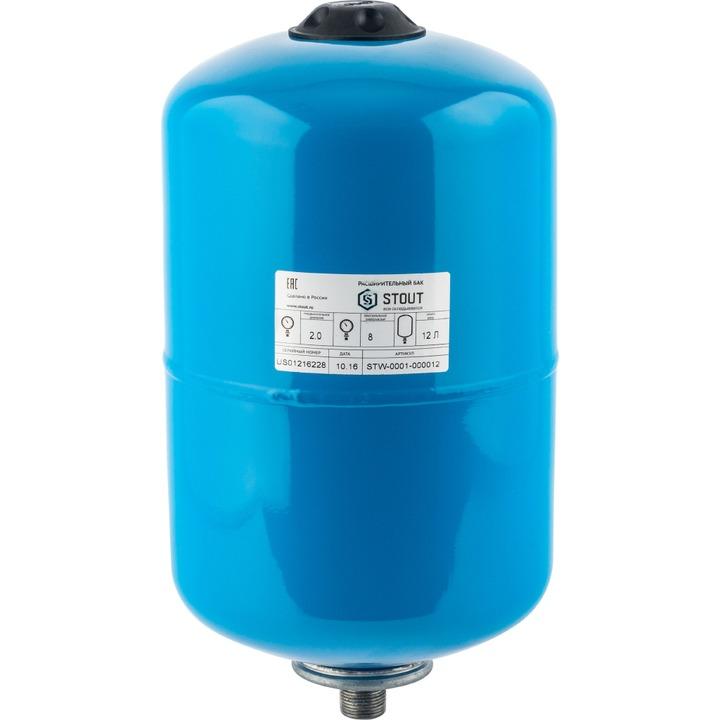 Гидропневмобак Stout (12 л.) 100°C PN8, вертик.