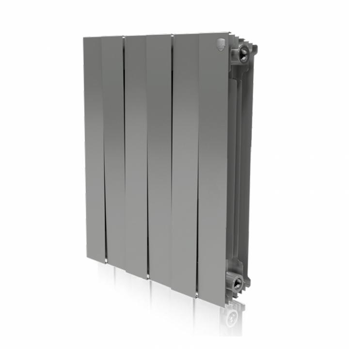 Радиатор Royal Thermo PianoForte/Silver Satin 500 - 6 секц. 1080 Вт