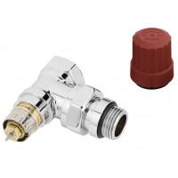 "Клапан термостатический Danfoss RA-NCX, 1/2""х1/2"", угловой (хром)"